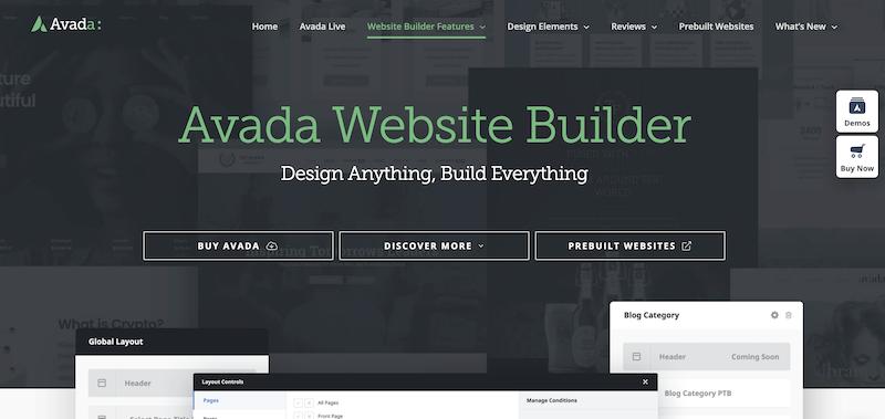 Avada page builder